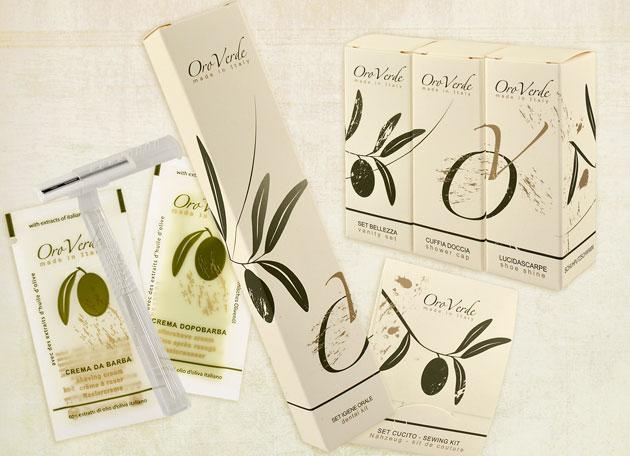set cortesia all'olio d'oliva oroverde by detercom